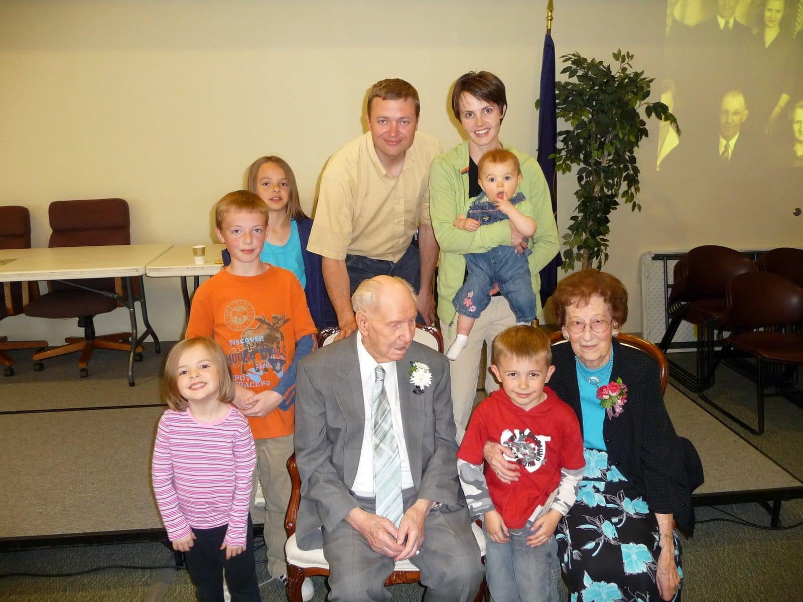 Grandpa Andreasens 101 Bash Photo