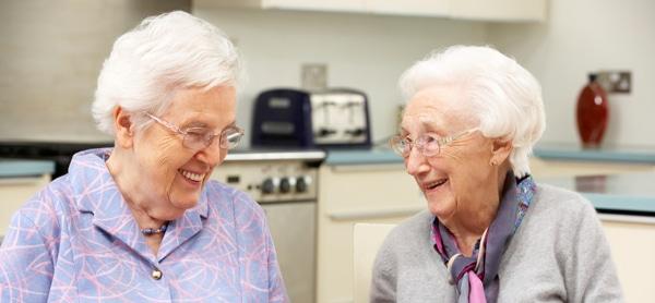Older women having lunch together