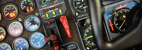 Airplane cockpit dials