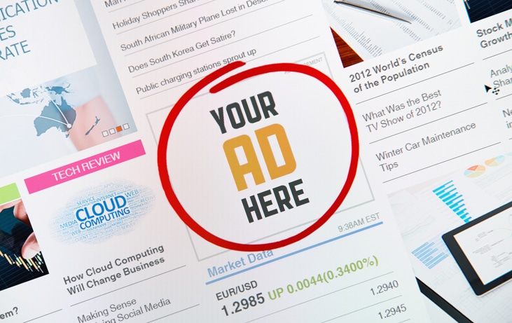 want ad that says 'your ad here'