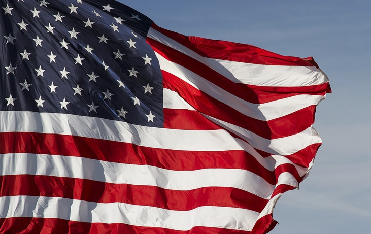 waving U.S.A. flag