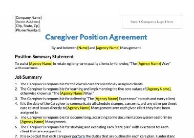 Sample Caregiver Hiring Strategy
