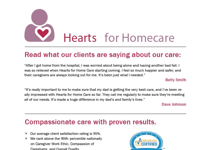 Home Care Referrals Sample Flyer Template Home Care Pulse