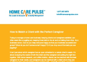 How to Match a Client with the Perfect Caregiver