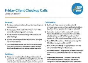 Friday Checkup Calls Preview