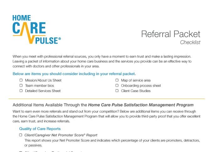 Referral Source Checklist