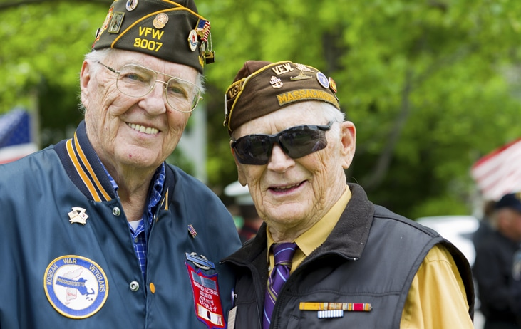two senior male veterans