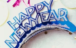 Happy New Year headband and streamers