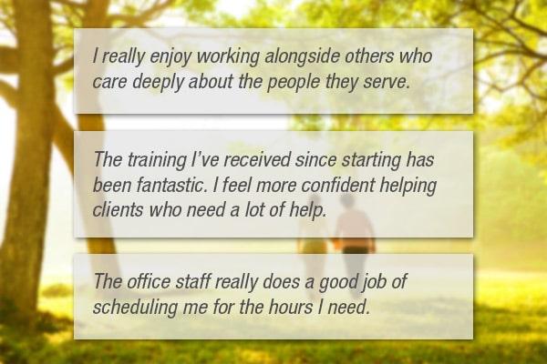 Caregiver Testimonials