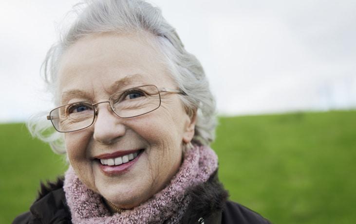 portrait of an senior woman outside