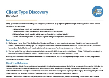 Client Type Discovery Worksheet preview