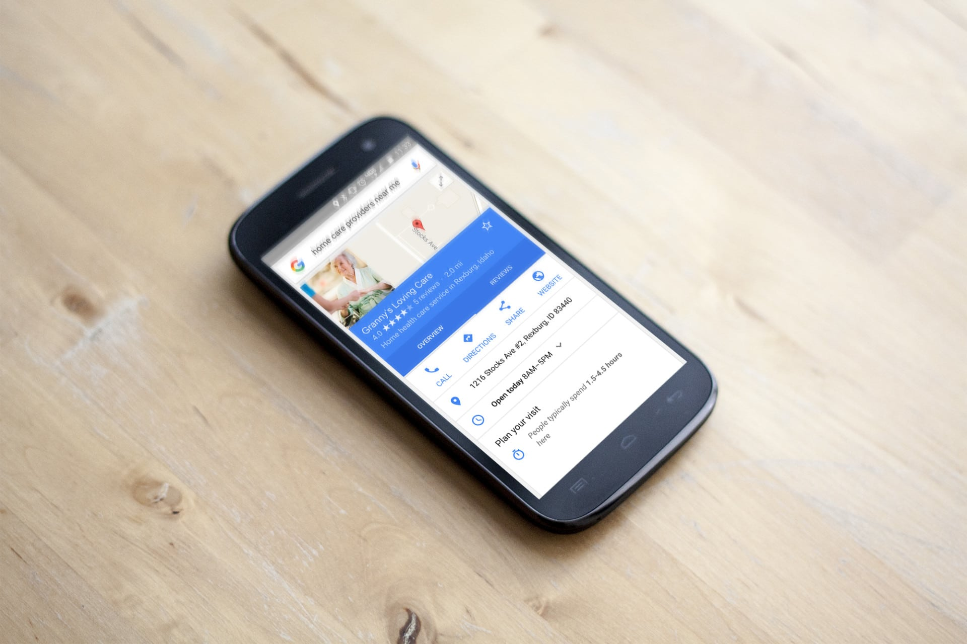 Mobile Search for Home Care