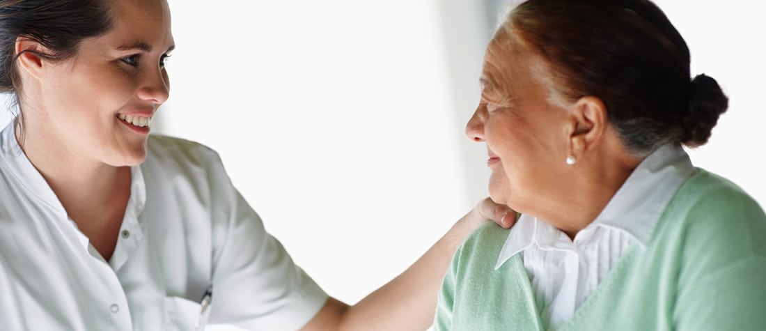 caregiver and home care client