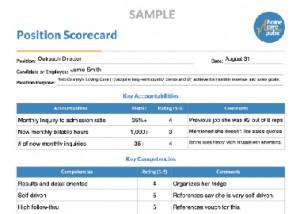 Position Scorecard