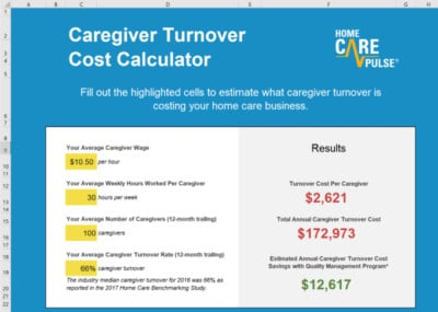 Caregiver Turnover Cost Calculator