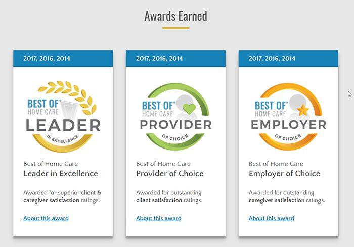 bestofhomecare.com awards