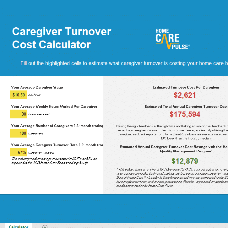 Caregiver Turnover Cost Calculator