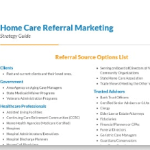 Home Care Referral Packet Checklist