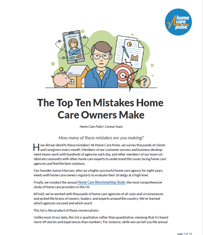 The Top Ten Mistakes Home Care Owners Make PDF