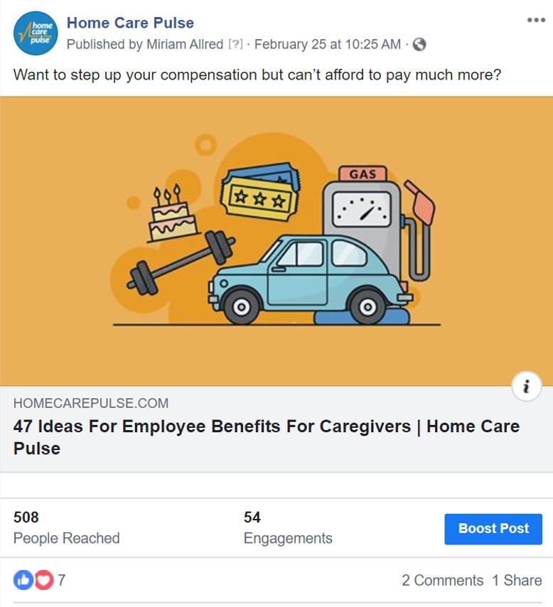 FB Post - Boost a Post