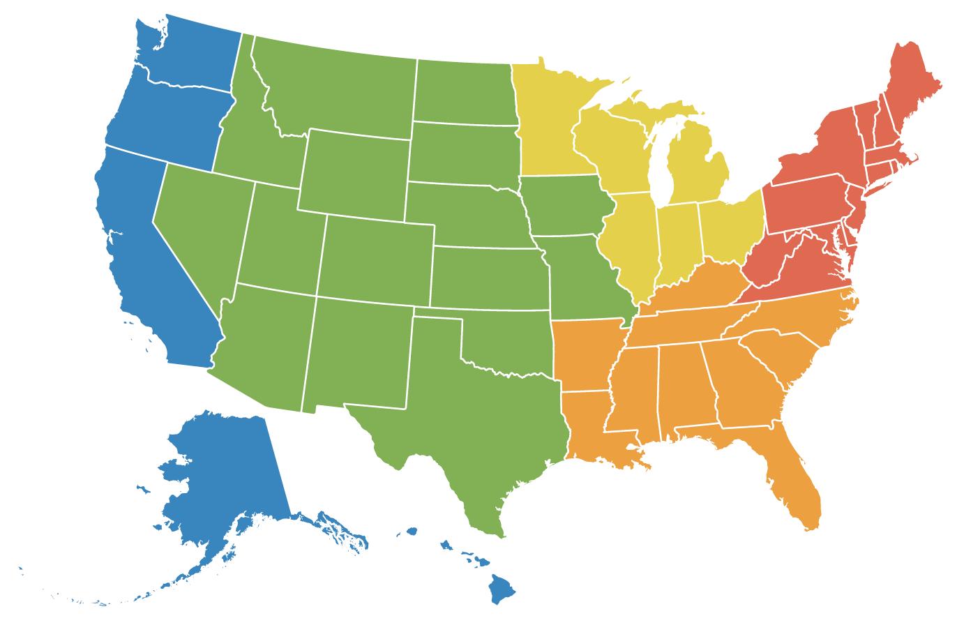 Benchmarking Regions Map