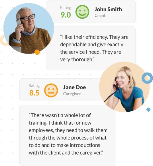 client and caregiver surveys