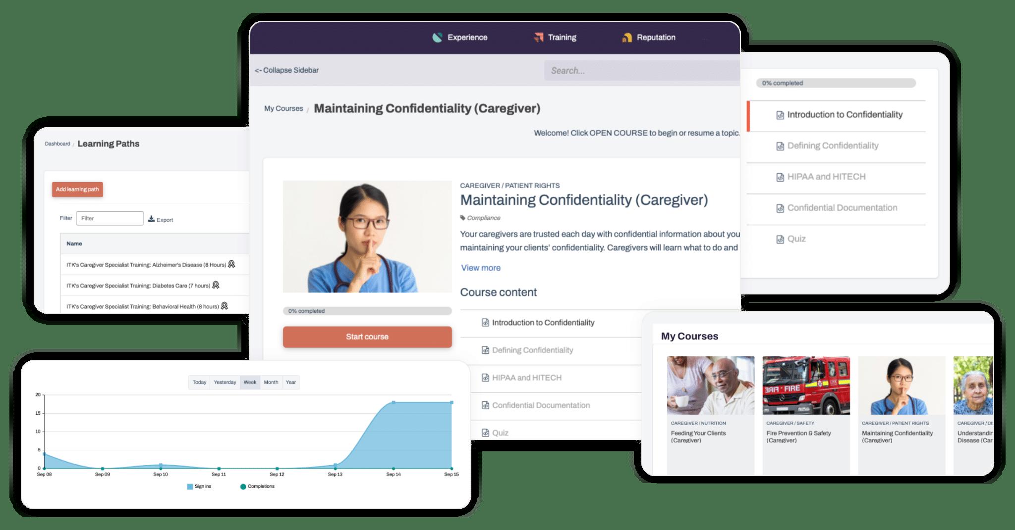 Caregiver training and eLearning platform